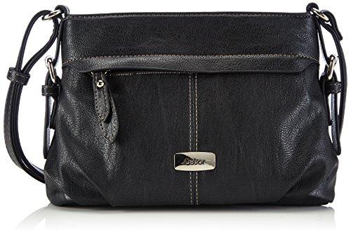 Gabor Umhängetasche Damen Lisa 26x17x10 cm, Schwarz (schwarz 60), Gabor Handtasche Damen