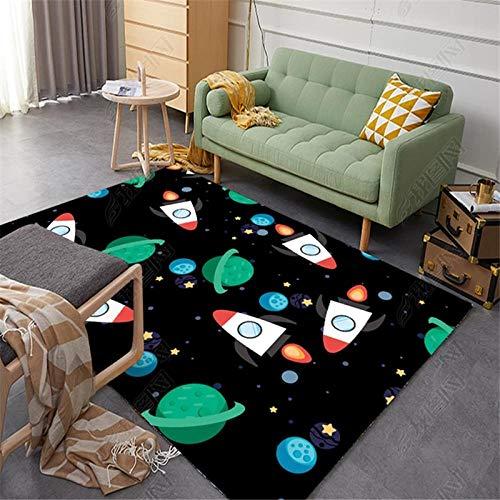 Djnp Afneembaar en wasbaar tapijt van creatief ruimtepatroon woonkamertapijt kinderbankkussen of slaapbank of stoel
