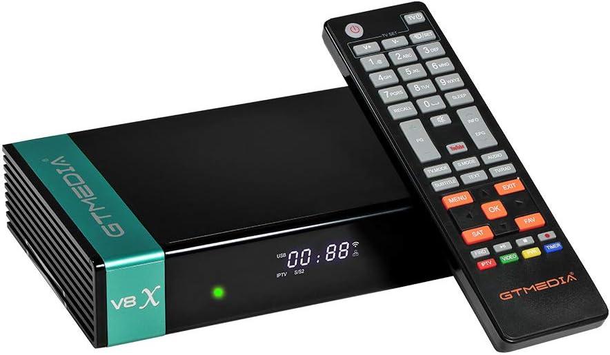 GTMedia V8X 1080P Full HD DVB-S/S2/S2X Satellite Receiver TV Receiver Support PowerVu Bisskey H.265 Built-in WiFi V8 Nova Upgrade(AU Plug)