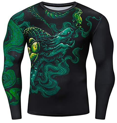 Cody Lundin Camisa de compresión para hombre, camiseta de compresión con estampado 3D, camiseta de manga larga, camiseta de compresión para hombre