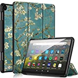 All-New Kindle Fire HD 8 and Fire HD 8 Plus Tablet 10th Generation 2020 Release Case, Auto Sleep/Wake Slim Lightweight Magnetic Stand Smart Leather Case Cover (Blossom)