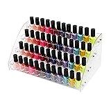 NaiCasy Esmalte de uñas del Soporte de exhibición de acrílico del Clavo Estante Polaco Soporte de la Botella de Aceite Organizador de Maquillaje joyería Organizador para Botellas 4 Plantas