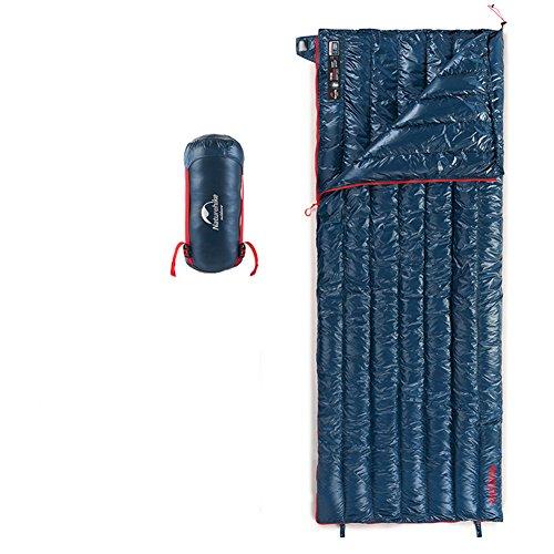 Tentock Kompression Ultraleicht Super Warm Gänsedaunen Umschlag Daunenschlafsack mit Reißverschluss Guard für 3 Season Outdoor Camping Wandern(blau)
