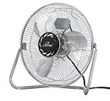 iLIVING ILG8F12 3-Speed High Velocity Floor Fan, 12-Inch, 1200 CFM