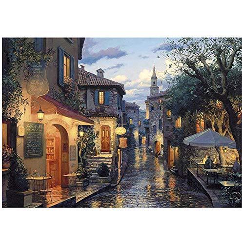fancjj Puzzle 1000 Piezas-Vista Nocturna de la ciudadJuego de Juguetes Rompecabezas para Adultos Rompecabezas de Madera para Adultos Juguetes decorativos50x75cm(20x30 Pulgadas)
