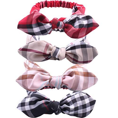 GUNIANG designer Headbands for Women Bows Head Band Women's Hair Accessories Fashion Scarfs Pink Red Brown Black Bandana