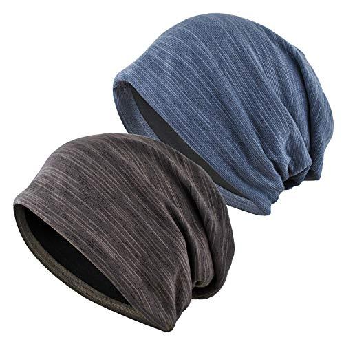 EINSKEY Mütze Herren Damen Slouch Beanie Kopfbedeckung Übergangsmütze für Sport, Chemo, Haarausfall, Schlaf