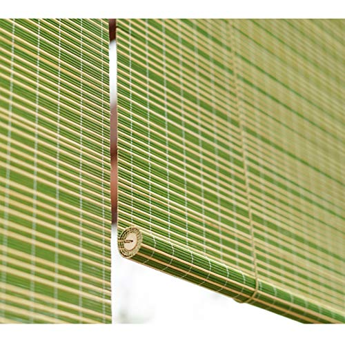 YAN FEI PERGOLA Green PERGOLA Rodillo DE BAMBO STUDES CIENTES con Ajuste, Puerta DE Ventana Gazebo Rolle Persianas, 80/100/120/140 cm Sombra de Sol de Ancho Quick Install Roller Blin
