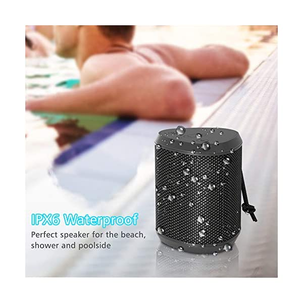 Portable Bluetooth Speakers, Wireless Mini Speaker with Stereo Sound Effect, Rich Bass, 60ft Bluetooth Range, Built-in Mic, Support AUX/TF Card, IPX6 Waterproof Outdoor Speaker for iPhone iPad 5