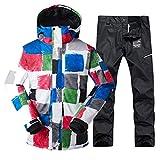 DRT Hombres de esquí Chaquetas y Pantalones a Prueba de Viento del Desgaste Impermeable del Deporte al Aire Libre Masculino Espesar térmica Ropa de Invierno (Color : Color 6)