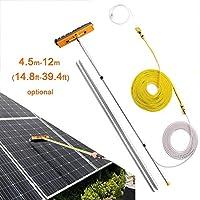 ZRABCD ブラシ屋外清掃ツール太陽光発電パネルツール、4.5-12M拡張可能なクリーナーの温暖化屋根、窓ガラス壁太陽光発電パネル、トラックの幅広いクリーナー,7.5M / 24.6フィート