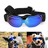 Enjoying Pet Sunglasses - Small Dog Goggles UV Protection Adjustable Goggles for Doggy, Cat, Blue