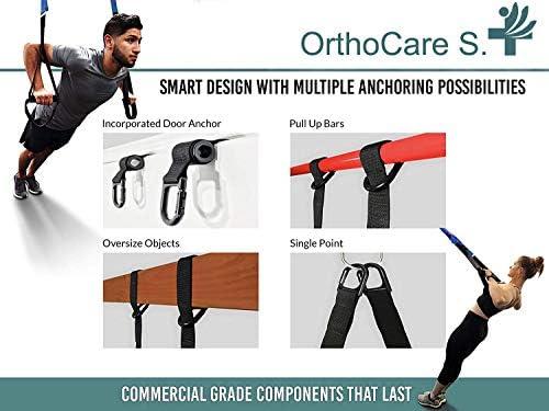 Ortho Care S Fitness - Entrenamiento en Suspension/Funcional con Cuerdas. Kit Multifuncion Gimnasia - Fortalecimiento, Resistencia y Tonificacion ...