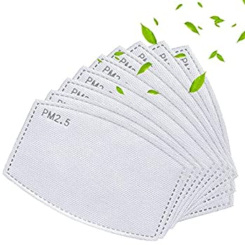 50pcs PM2.5 Activated Carbon Filters Replaceable Anti Haze Filter Paper for Adult