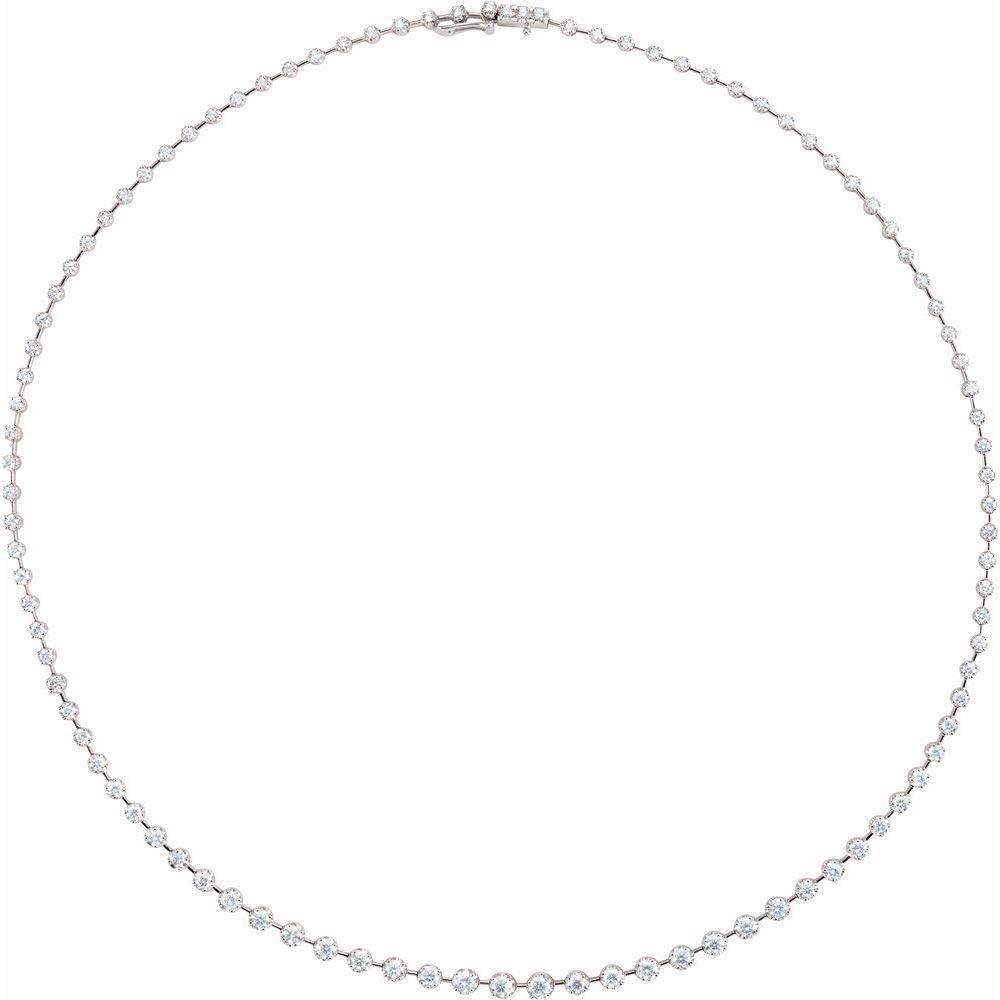 14k White Gold Necklace Diamond Max 74% OFF Sale