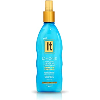 IT 12-in-ONE Amazing Leave In Treatment Spray   Keratin Enriched, Hydrates, Smoothes and Nourishes Hair   Parabens Free, 10.2oz