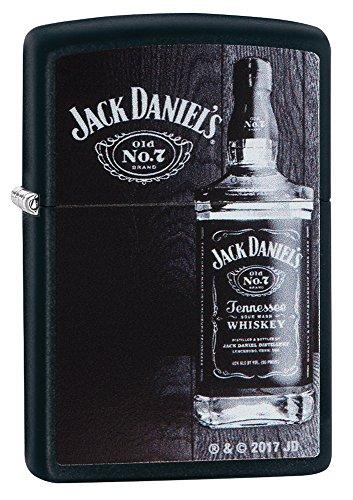 Zippo Jack Daniels Feuerzeug, Messing, Black Matte, One Size