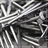 Clavos de hierro 1 kg clavos de hierro de 2 pulgadas paneles de madera maciza larga u/ñas de hierro fino clavos redondos para el hogar