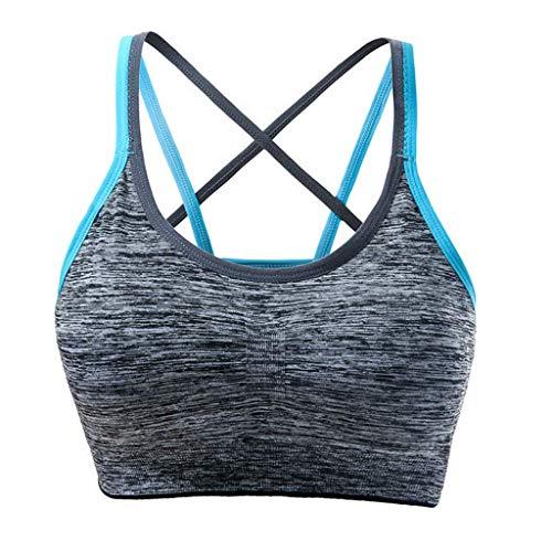 KIMODO Damen Abnehmbare gepolsterte Sport-BH Nahtlose Unterstützung BH Workout Yoga Bra Unterwäsche