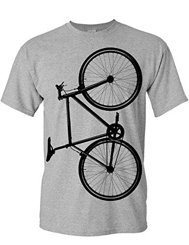 T-Shirt de vélo: Vélo Fixie - Cadeau pour Cyclistes - BMX - vélo - VTT - Bicyclette - e-Bike - Fixie - Urban - Urbaine - Carfree - Cadeau pour Les Fans de Fixie (L)