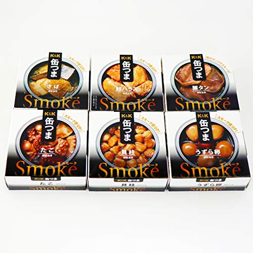 缶つま スモークセット 6缶 K&K 国分 缶詰 詰め合わせ