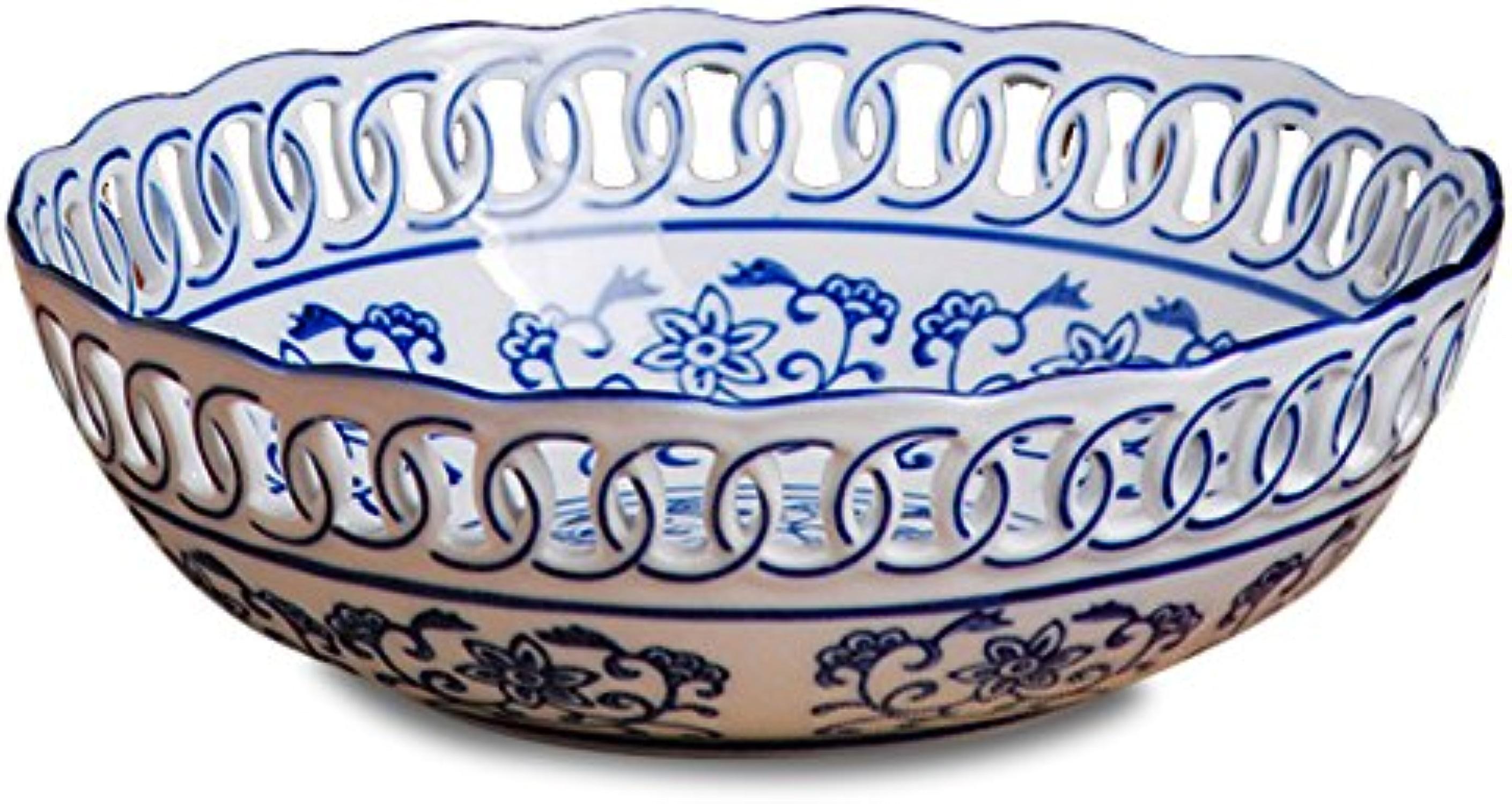 Simple en céramique Candy Plat moderne en porcelaine Assiettes à fruits, Céramique, D, High 8CM× diameter 25CM