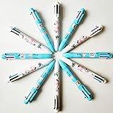 Bolígrafo multicolor, 12 piezas 6-en-1 Bolígrafo, bolígrafo retráctil de 6 colores Bolígrafos multicolores para útiles escolares de oficina Estudiantes Niños