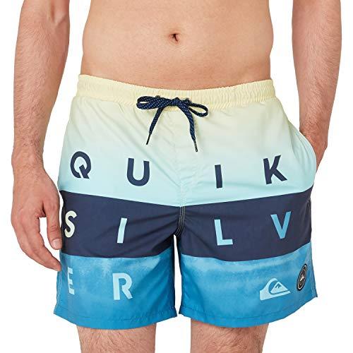 Quiksilver Word Block Shorts, Hombre, Southern Ocean, XL