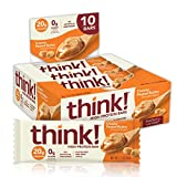 think! (thinkThin) High Protein Bars - Creamy Peanut Butter, 20g Protein, 0g Sugar, No Artifici…