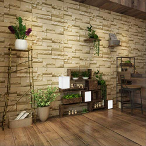 Behang grote aanbieding 3D baksteen behang klassiek grijs retro baksteen patroon behang decoratie behang slaapkamer Ez003 0,53X10 Mt geel muurschildering muursticker