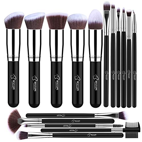 Bestope Make-up-Pinsel-Set, professionell, 16-teilig