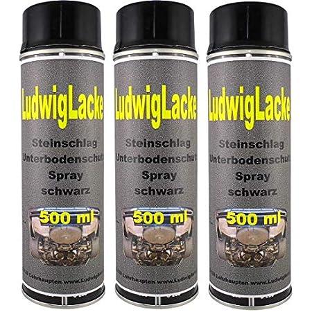 Steinschlagschutz Unterbodenschutz 3 X 500 Ml Spray Schwarz Auto