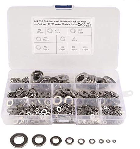 Financial sales sale Lysee Nut Bolt Sets - Metric Washer Steel Flat Stainless Boston Mall