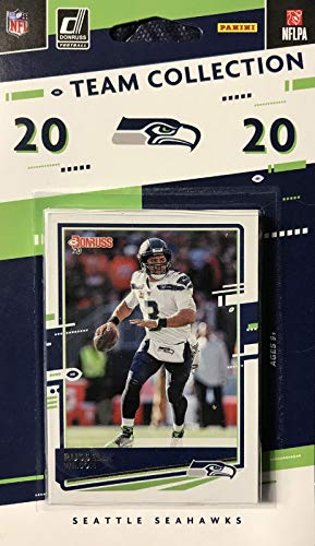 Seattle Seahawks 2020 Donruss Factory Sealed 12 Card Team Set with Russell Wilson and DK Metcalf Plus 4 Rookie Cards