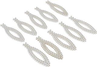 Enfeites de pérola menolana, 10 peças, botões de enfeite para casamento, grampos de cabelo, pinos, artesanato - branco, 80...
