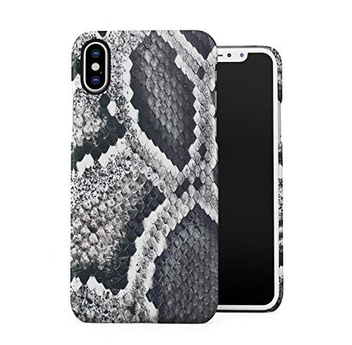 Snake Skin Pattern Dünne Handy Schutzhülle Hardcase Aus Hartplastik Hülle Kompatibel mit iPhone X, iPhone XS Handyhülle Case Cover