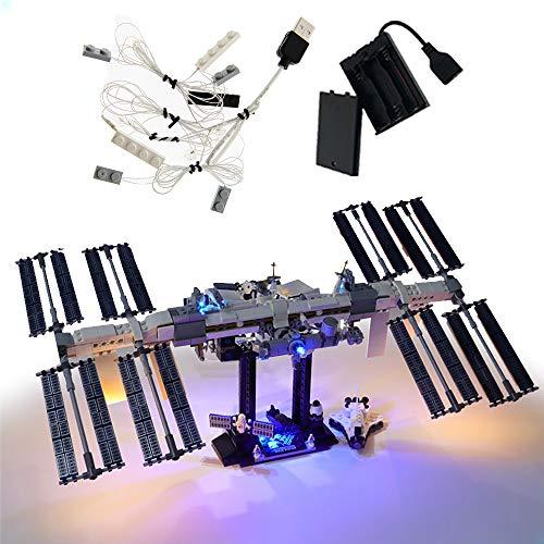 GEAMENT Kit de luz LED para estación espacial internacional, compatible con Lego Ideas 21321 modelo de bloques de construcción (juego de Lego no incluido) (con instrucciones)