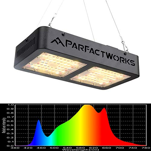 PARFACTWORKS 1000W LED Grow Light Hydroponic LED Full Spectrum Indoor Veg Flower Medical Plant Grow Lighting