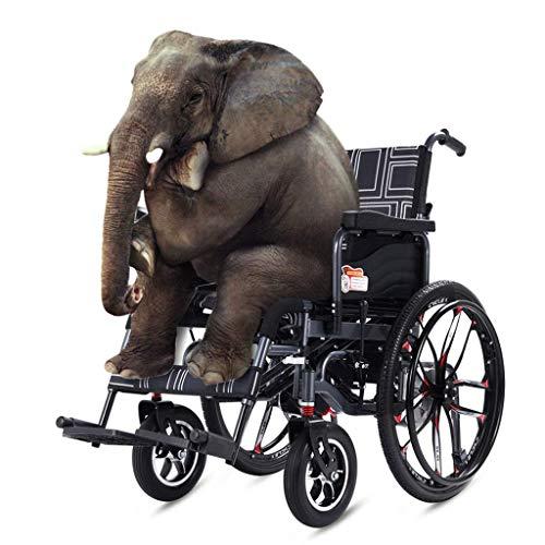 Nachenw Elektrische rolstoel, draagbaar, multifunctionele rolstoel, motor, dubbele schakelaar, elektrisch, handmatig, lithium-accu, 20 A