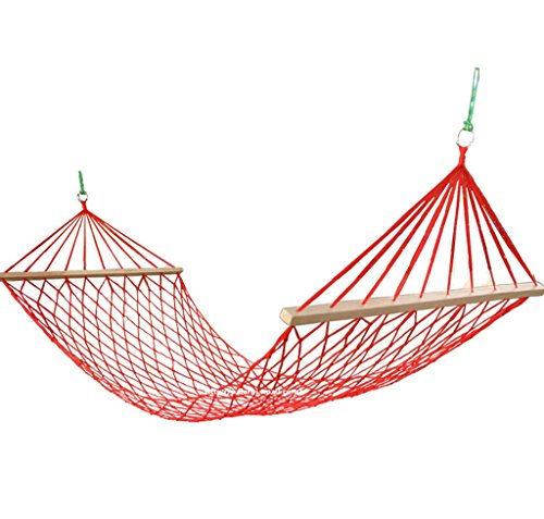 DGF Outdoor Net Nylon Rope Hamac Creative Leisure Camping Hammock200cm * 80cm - Fashionla (Couleur : Rouge)