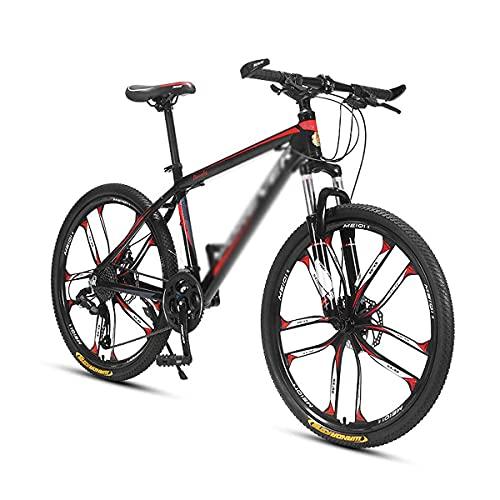 Bicicleta de montaña con Ruedas de 26 Pulgadas para Hombres, Mujeres, Bicicleta de 24/27 velocidades, Marco de Acero al Carbono con Horquilla Delantera Que Absorbe los Golpes (tamaño: 27 velocidades,