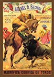 """Pixiluv 2021 Wall Calendar [12 pages 8""""x11""""] Corrida Spain Bull Show Vintage Travel Poster Ads"""