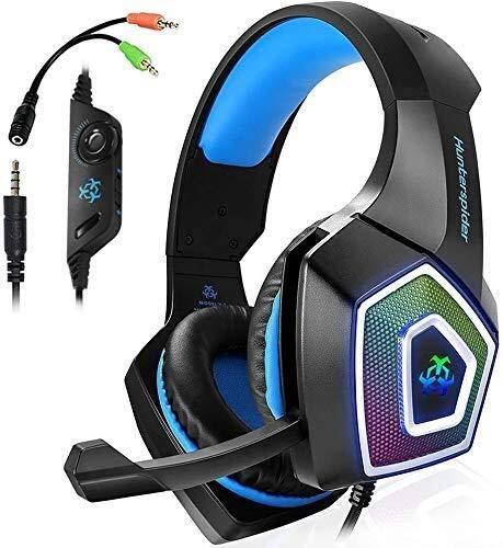 auriculares For los auriculares PS4 Auricular for juegos, Controlador de Xbox One, aislamiento de ruido con cable, Más Auriculares de tapón con, estéreo de 3,5 mm Gamer auriculares, auriculares for Xb