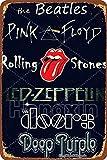 HONGXIN Deep Purple Retro Poster Vintage Metallschild