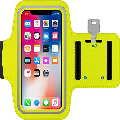 Brazalete para todo tipo de smartphones (amarillo)