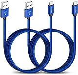 CLEEFUN Cable USB C Longue [3m 2-Pack], Rapide et Ultra Résistant Câble Chargeur pour Samsung...
