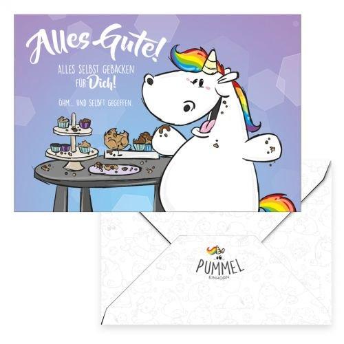 Pummel & Friends - Grußkarte - Pummeleinhorn (Alles Gute)