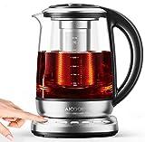 Aicook Glas Wasserkocher, 1.7L wasserkocher mit temperatureinstellung, 2200W, Schnellkochfunktion, 120 Minuten Warmhalten, herausnehmbarer Kalkfilter, Auto-Off, BPA-Frei [Energieklasse A ]