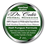 Dr. Cole's Organic Nail Fungus Treatment – Extra Strength, Herbal, Anti-fungal Treatment for Finger Nails & Toenails – Disinfects & Repairs Thick, Cracked, Flakey Nails – Safe for The Whole Family