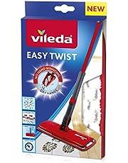 Vileda Easy Twist Wkład do Mopa Płaskiego, Mikrofibra, Czerwony/Biały, 2 x 13 x 25 cm